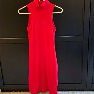Sexy Red dress, mock turtleneck